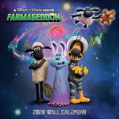 Shaun The Sheep Farmageddon Official 2020 Wall Calendar Hanging Planner