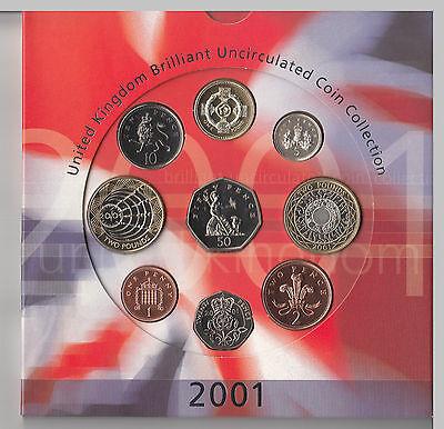 GB 2001 Royal Mint UNC coin set