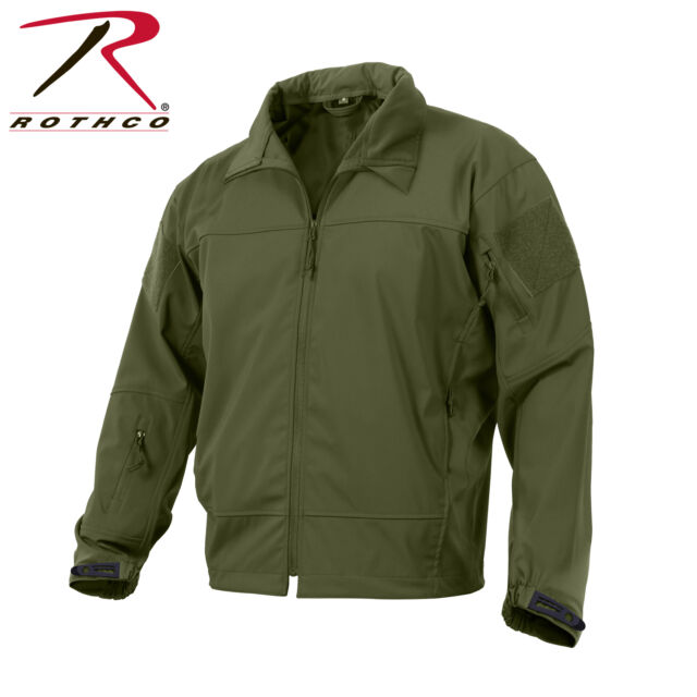 New Rothco 5872 Olive Drab Lightweight Soft Shell Spec Ops Soft Shell Jacket