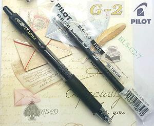 5 pens + 10 refills Pilot BLS-G2-7  fine 0.7mm Gel Type ink BLACK ink