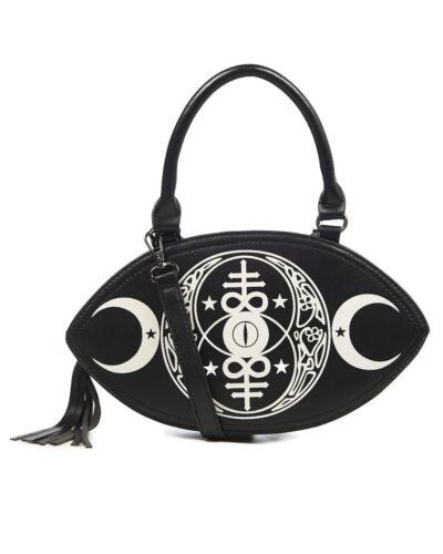 Banned Apparel New Moon Gothic Occult Rockabilly Womens Handbag