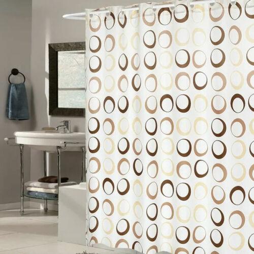 Splash Shower Curtain 100/% Polyester Chocolate Circles Pattern Machine Washable