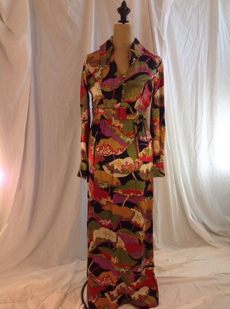 VTg 1970's Party Dress by Brenner Couture Sz S Small