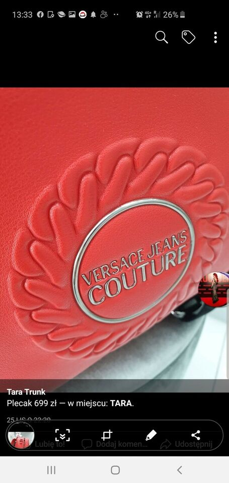 Anden håndtaske, Versace, andet materiale