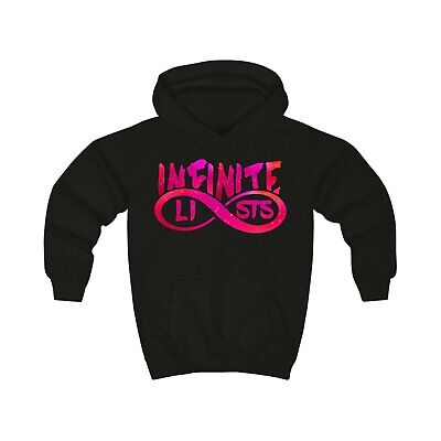 Infinite Lists Sweatshirt KIDS Infinite Lists Logo Hoodie Infinite Lists Pink