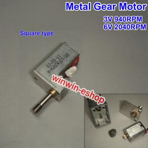 DC-3V-Mini-Full-Metal-Gearbox-Gear-Reducer-Motor-Square-N20-Motor-for-Robot-Car