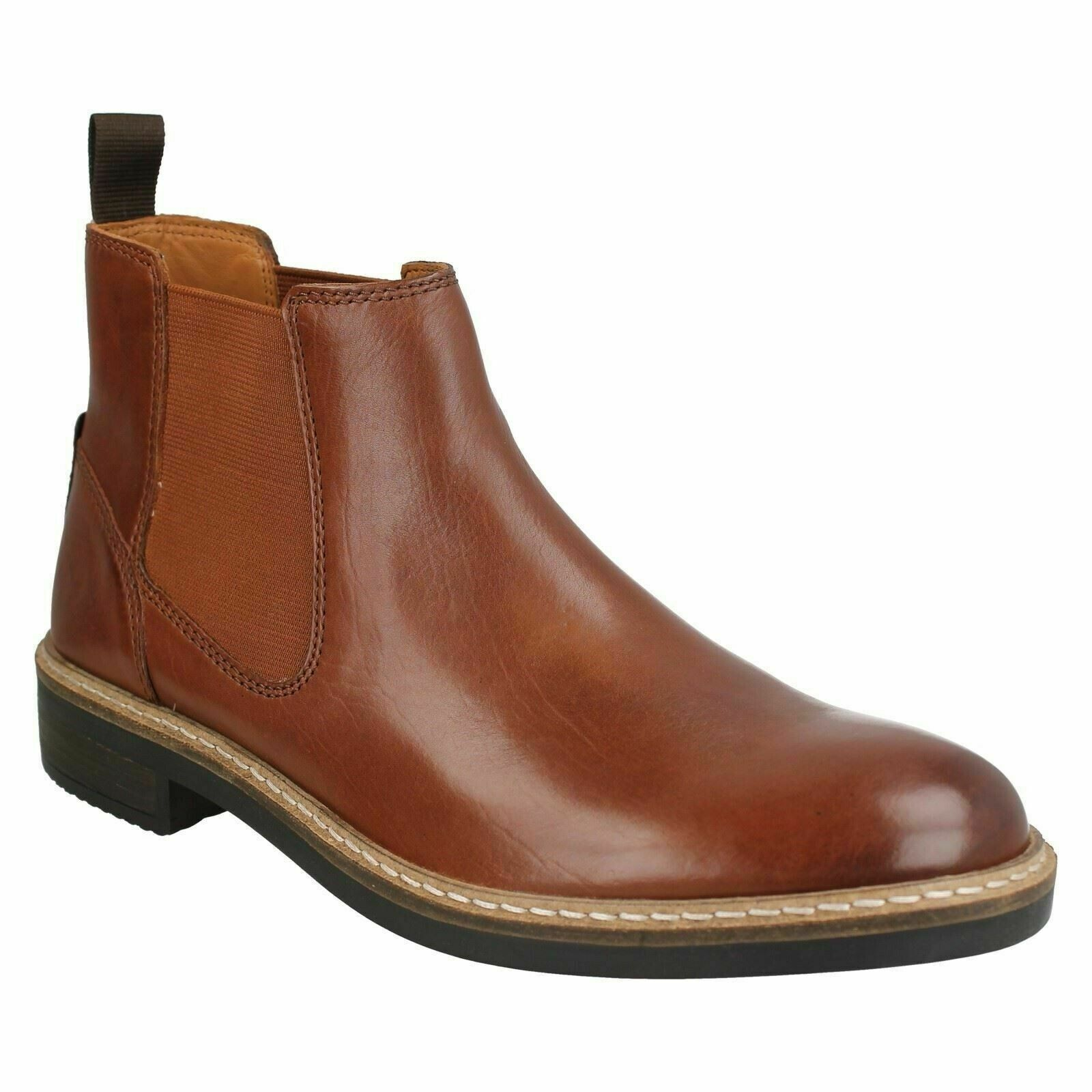 MENS CLARKS BLACKFORD TOP PULL ON CLASSIC CHELSEA SMART WORK ANKLE BOOTS SIZE
