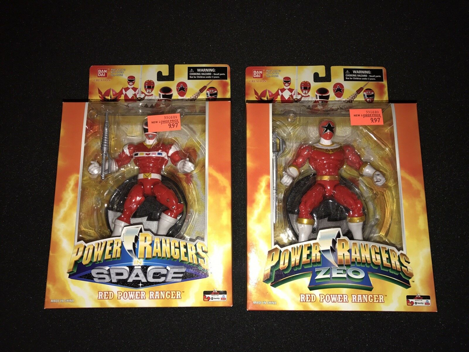 Power Rangers 15th Anniversary rot Rangers In space & ZEO 6.5  SET OF 2 NEW