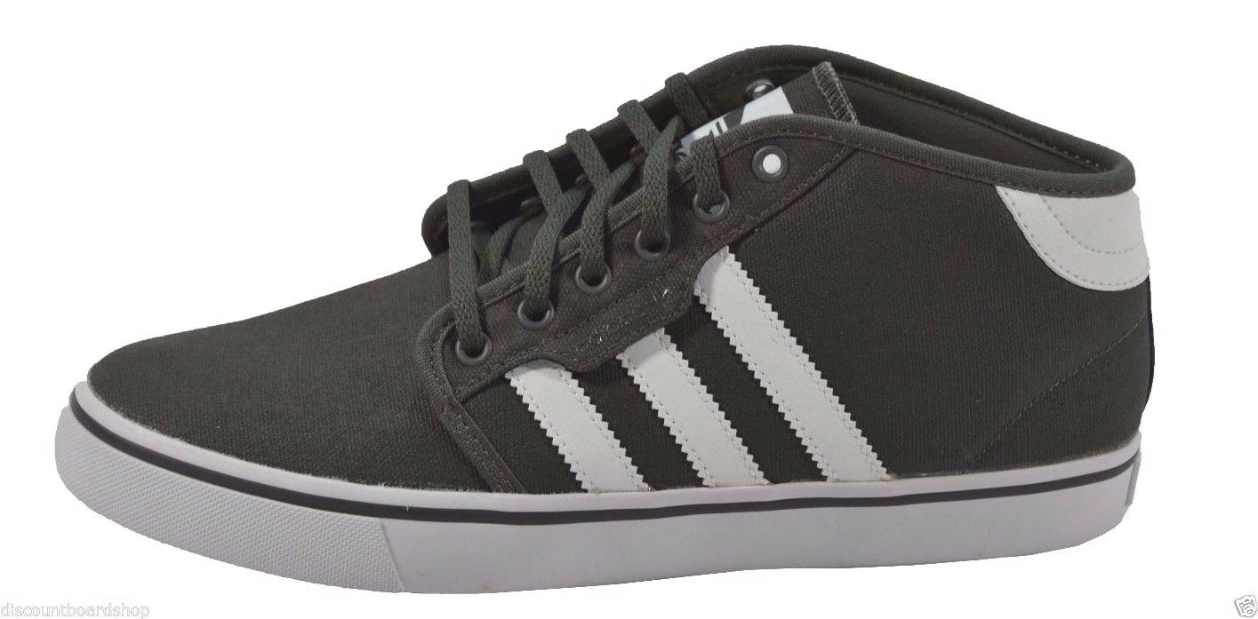 Adidas Seeley Mid Dark Cinder Gris Blanco reduccion de precio de 245 Skate skateboarding zapatos de precio hombre el mas popular de zapatos para hombres y mujeres f6dd32