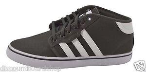 Adidas SEELEY MID Dark Cinder Gray White (D) 245 Skate Skateboarding Men's Shoes