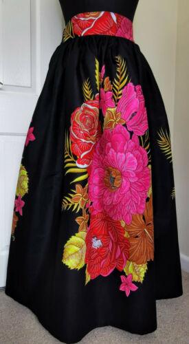 Black Demona Africaine Imprimé Pleine Longueur//Jupe longue 100/% Cire Coton Fait Main UK