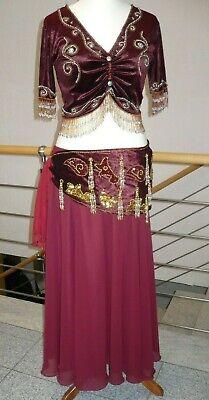 Danza Del Ventre Costume Belly Dance 3 Pezzi Dimensioni 40-42-