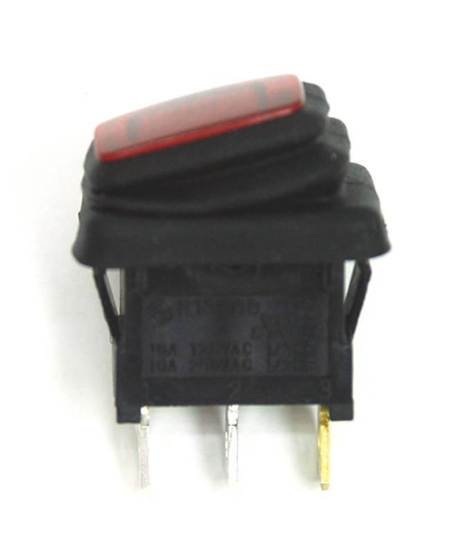 5 x Black Mini Round On-Off Rocker Switch SPST 12A SCI R13-270A-02