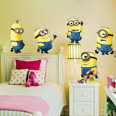 Minions Despicable Me 2 Wall Stickers Decal Removable Home Decor Kids Art Mural