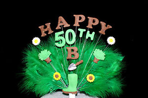 Gardening, flower feather custom  Birthday Cake Topper/ decoration personalised
