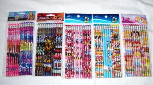 Lot 180 pcs Disney /& Cartoon Character Licensed Pencil Wholesale School Supply