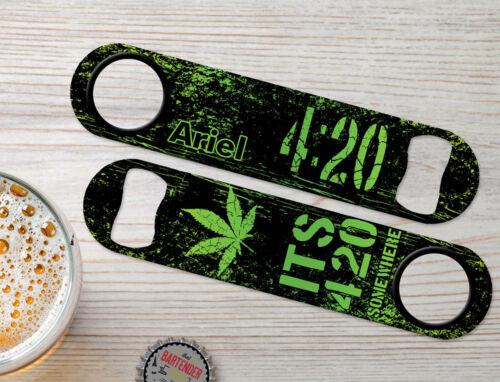 4:20 Somewhere Personalized Weed Bartender Bar Blade Custom Speed Bottle Openers
