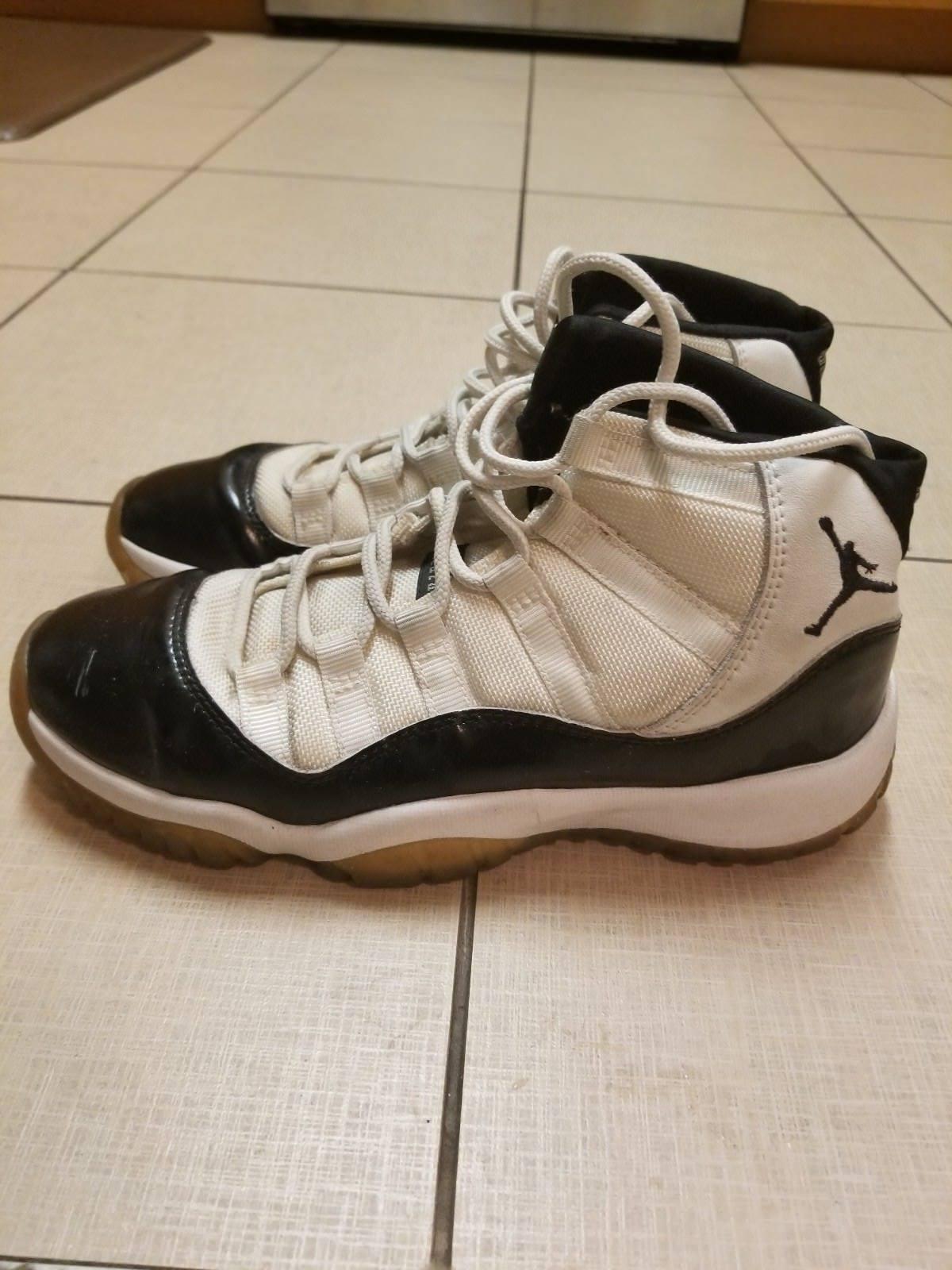 RARE 2000 Retro Nike Air Jordan Concord 11 Size 5.5 WHITE BLACK blueE