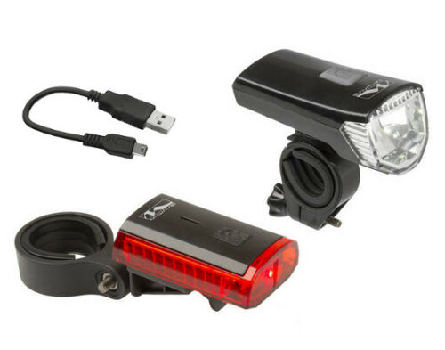 Lighting Set Atlas K11 28//15 Lux Li-Ion Battery with USB Cable Led Bicycle