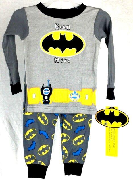 a2cbe00a Pajamas Batman Sleepwear Boys Clothes Toddler PJs Pants Shirt 2 PC ...