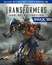 TRANSFORMERS :AGE OF EXTINCTION (3D) IMAX atmos    Blu Ray - Sealed Region free