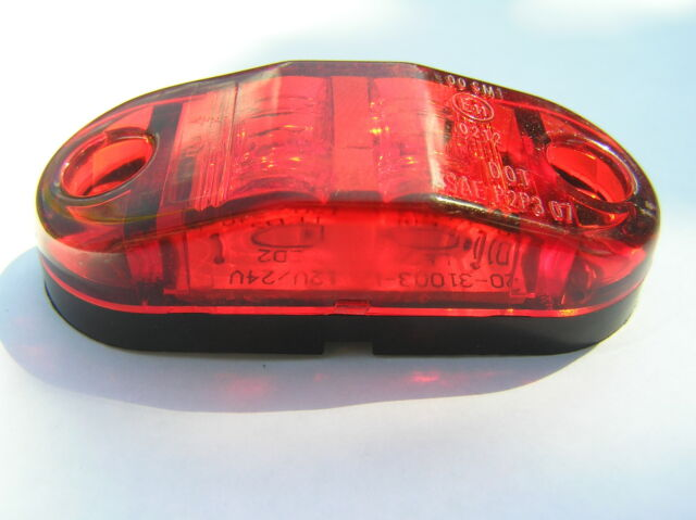 12v / 24v LED Rear Marker Light Red. Suitable for Cars Trucks Trailers van