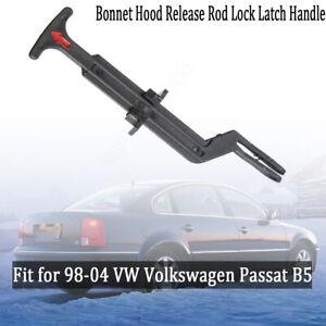 New Bonnet Hood Release Rod Lock Latch Handle Fit for VW 98-04 Passat 3B0823593