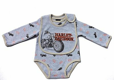 Harley Davidson Baby Boys Logo Creeper & Bib Apparel Gift Set, Clothes,  Clothes