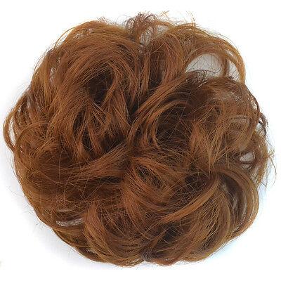 Fashion Pony Tail Fake Hair Extension Bride Bun Hairpiece Scrunchie Wavy Hair