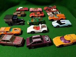 Job-lot-Of-16-Vintage-LESNEY-Matchbox-1970s-80s-cars-rare-diecast-superfast
