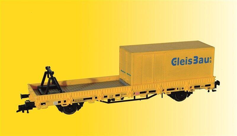 Kibri 26264 Spur H0, H0, H0, Schutzwagen mit Auflage und Container GleisBau Neu in OVP c18dce