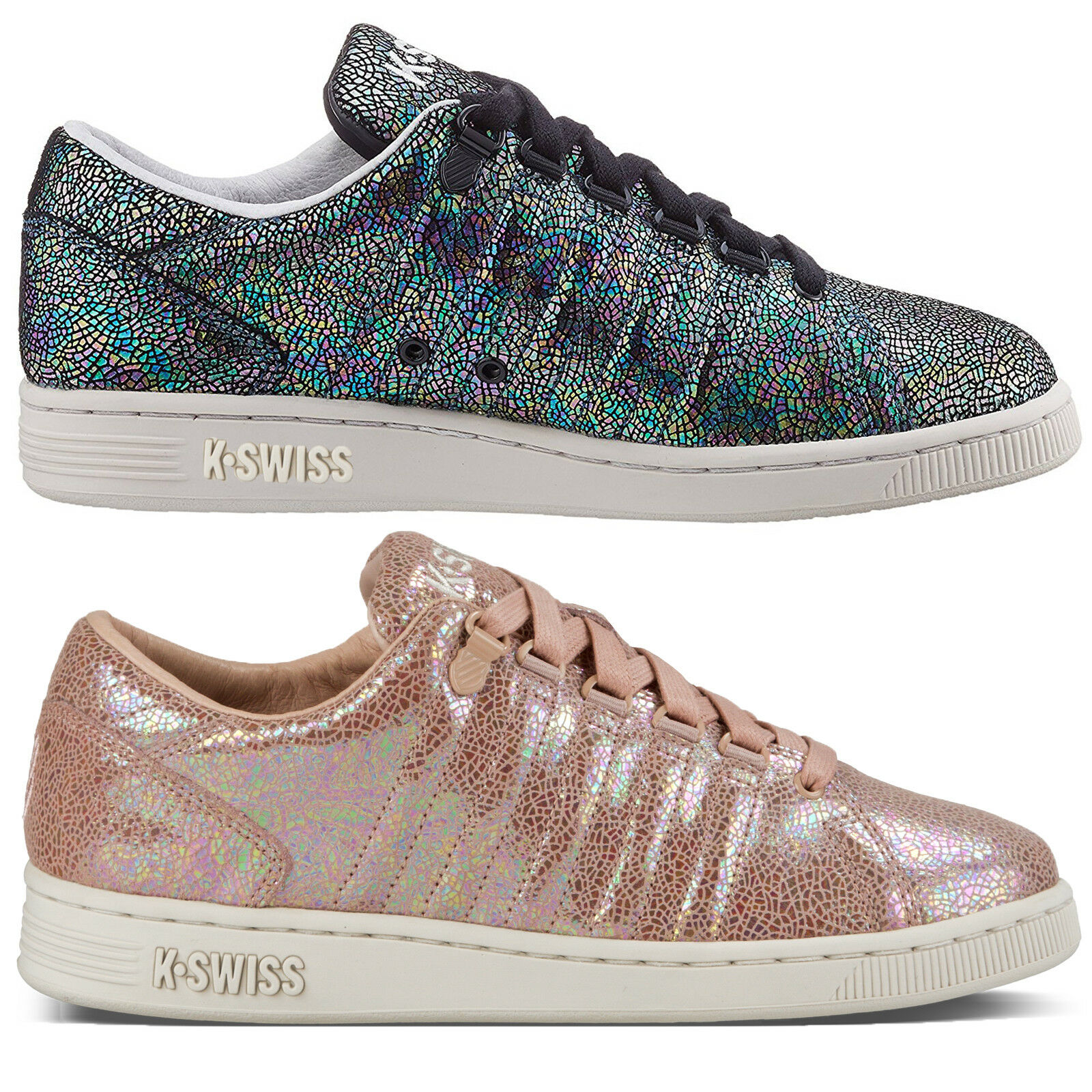 K-Swiss Designer femmes  Iconic Lozan III TT IRDSCNT Trainers Shiny Lace Up  Chaussures