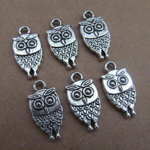 20pc-Tibet-Silver-Charm-double-swing-bead-owl-animal-parts-wholesale-PL031
