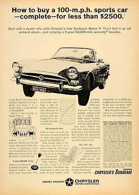 1961 Sunbeam Alpine sun Classic Advertisement Ad P40