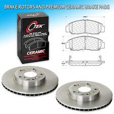 Nakamoto Front Premium Metallic Brake Pad /& Rotor Kit for 98-02 Honda Accord V6