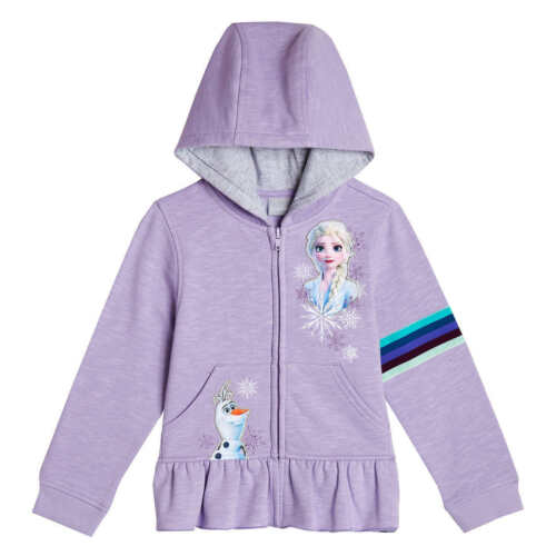 DISNEY FROZEN 2 PRINCESS ELSA /& OLAF Zip-Up Sweatshirt Hoodie Size 3T or 4T  $32