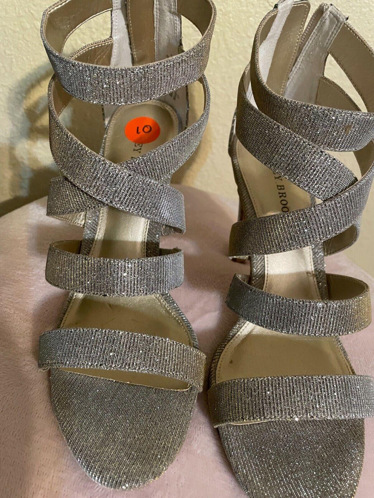 Audrey Brooke Sliver Pump Strappy Size 10