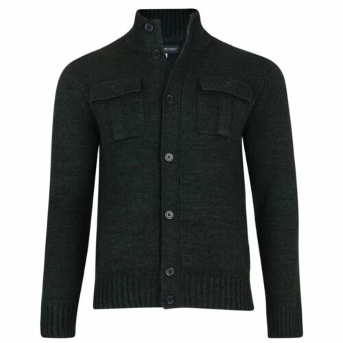 Kam New MENS Knitted Button Buttoned Cardigan cardi Jumper  BIG Tall navy khaki