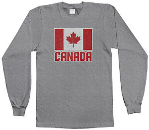 Threadrock Girls Flag of Canada Fitted T-shirt Canadian Pride Maple Leaf