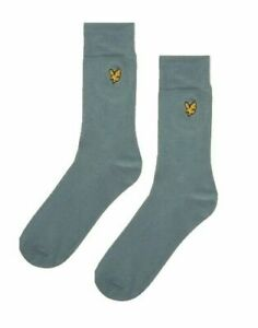 93e596e21d9c LYLE & SCOTT Gifts For Men Blue Plain Solid Everyday Socks One Size ...