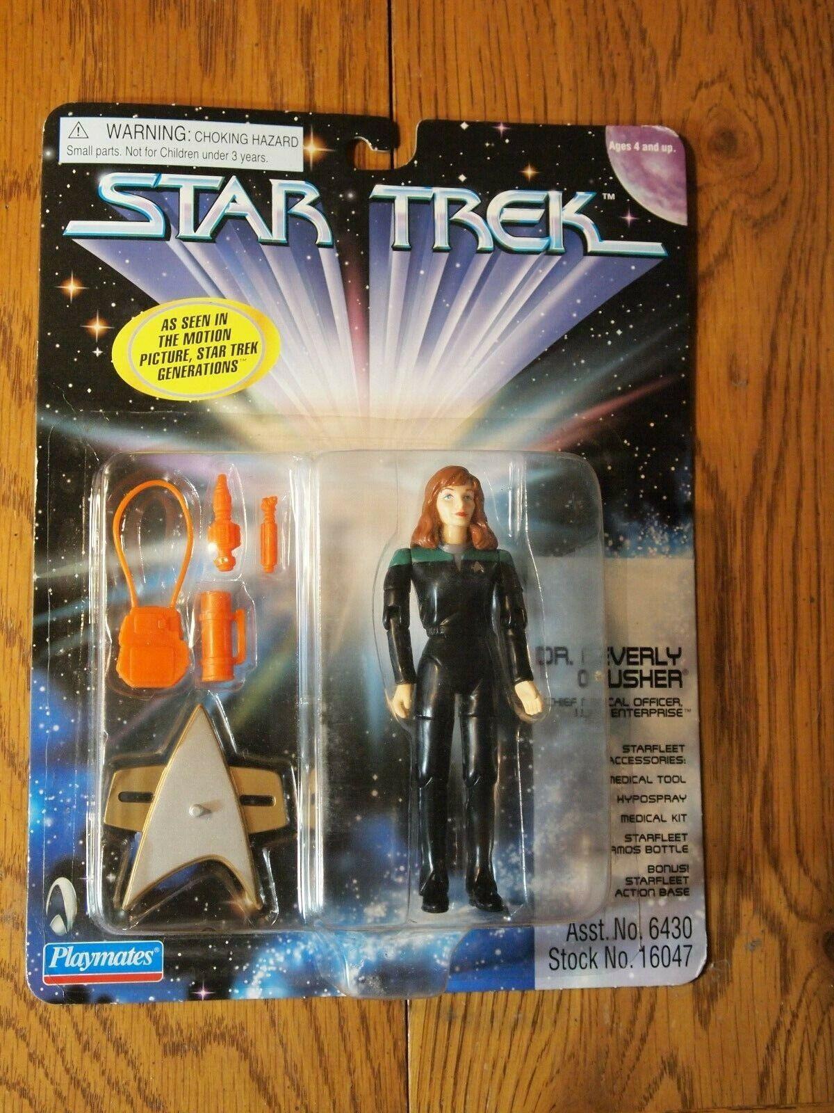 Spelkamrater 1997 stjärna Trek  The Next Generation Dr Beverly Crusher figure, MOC