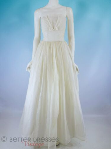 Vintage 50s 60s Strapless Party or Wedding Dress -