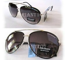 New Steve Madden Mens Sunglasses SM462109 Black-Silver/Purple $55