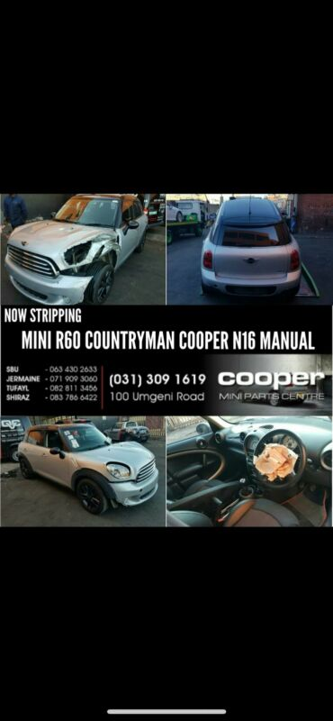 MINI COOPER R60 COUNTRYMAN MANUAL STRIPPING FOR SPARES