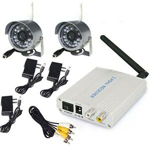 DIY 2.4G Wireless Home Security 4CH Video System + 2x 24LEDs Outdoor CCTV Camera