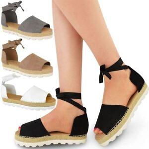 Ver Zapatos Sandalias Damas Detalles Plataforma Título Nuevas Vacaciones Original Tamaño Cordones Verano De Alpargatas Mujer Para QWxBedorC