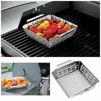 Vegetable Grill Basket Weber Grill Accessories Bbq Non Stick Cooking Grilling