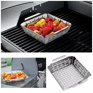 Vegetable Grill Basket Weber Grill Accessories Bbq Non