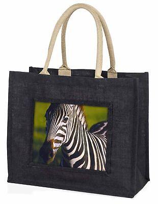 ein schönes Zebramuster große schwarze Einkaufstasche Weihnachten Geschenkidee,