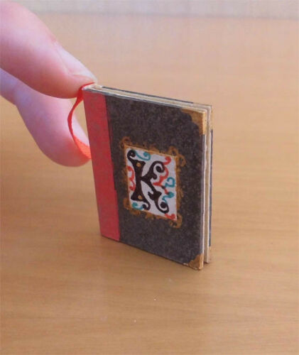 Kristina Psalter Medieval book Illustrated Codex Handcrafted Scale 1:12.